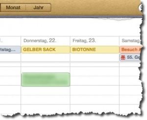 Kalenderabo für Abfalltermine