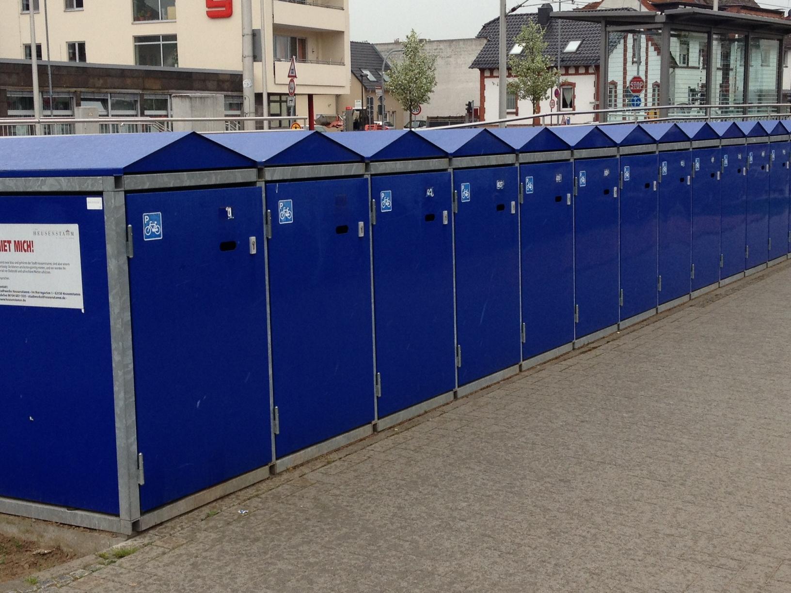 Fahrradboxen Bahnhof Heusenstamm