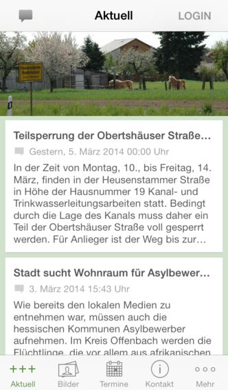 Screenshot der App