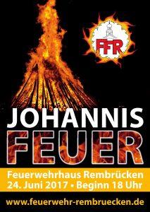 Johannisfeuer der FFR am 24. Juni ab 18.00 Uhr
