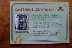 Infotafel Zur Rose